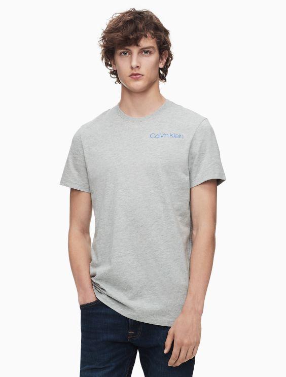 Compact Logo Crewneck T Shirt by Calvin Klein