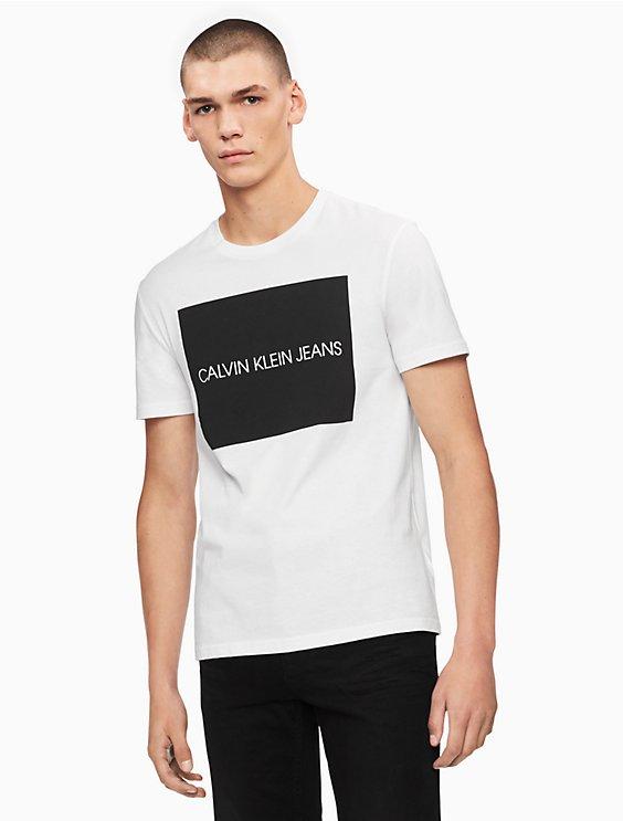 562a9b4a8 crewneck block logo t-shirt | Calvin Klein