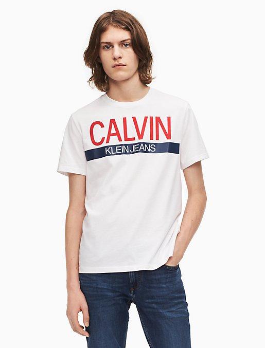 Calvin Klein Jeans Logo Regular Fit Tee Weiß Jungen