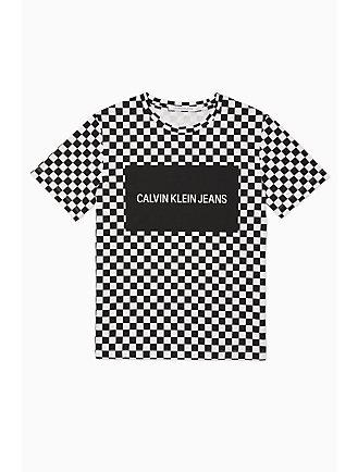 8d681237a69 Logo Block Checkerboard T-Shirt