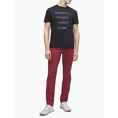 Satin Stripe Logo Crewneck T-Shirt