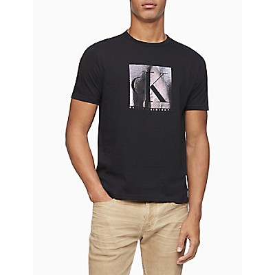 Foil Monogram Logo Block Crewneck T-Shirt