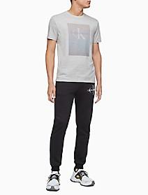 Monogram Logo Gradient Crewneck T-Shirt   Calvin Klein