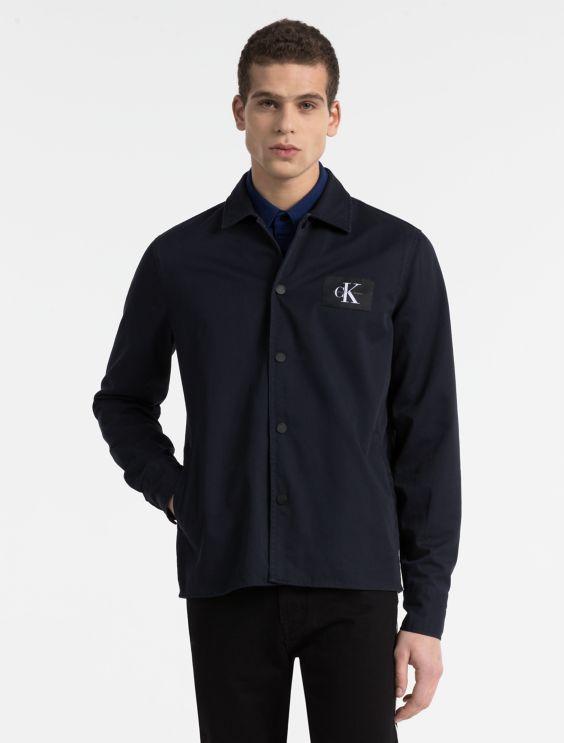 cotton twill shirt jacket | Calvin Klein