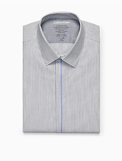 X fit grey ministripe dress shirt calvin klein for Calvin klein x fit dress shirt