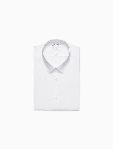 Image of Extreme Slim Fit Solid Temperature Regulation Dress Shirt