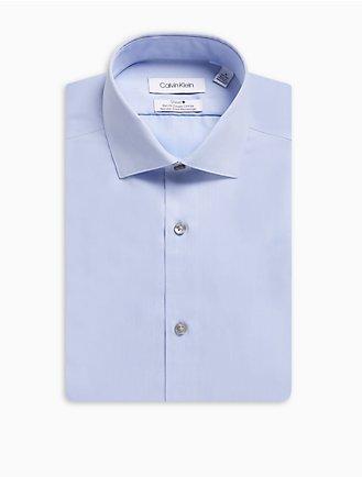 5017aa619668d Slim fit herringbone spread collar dress shirt
