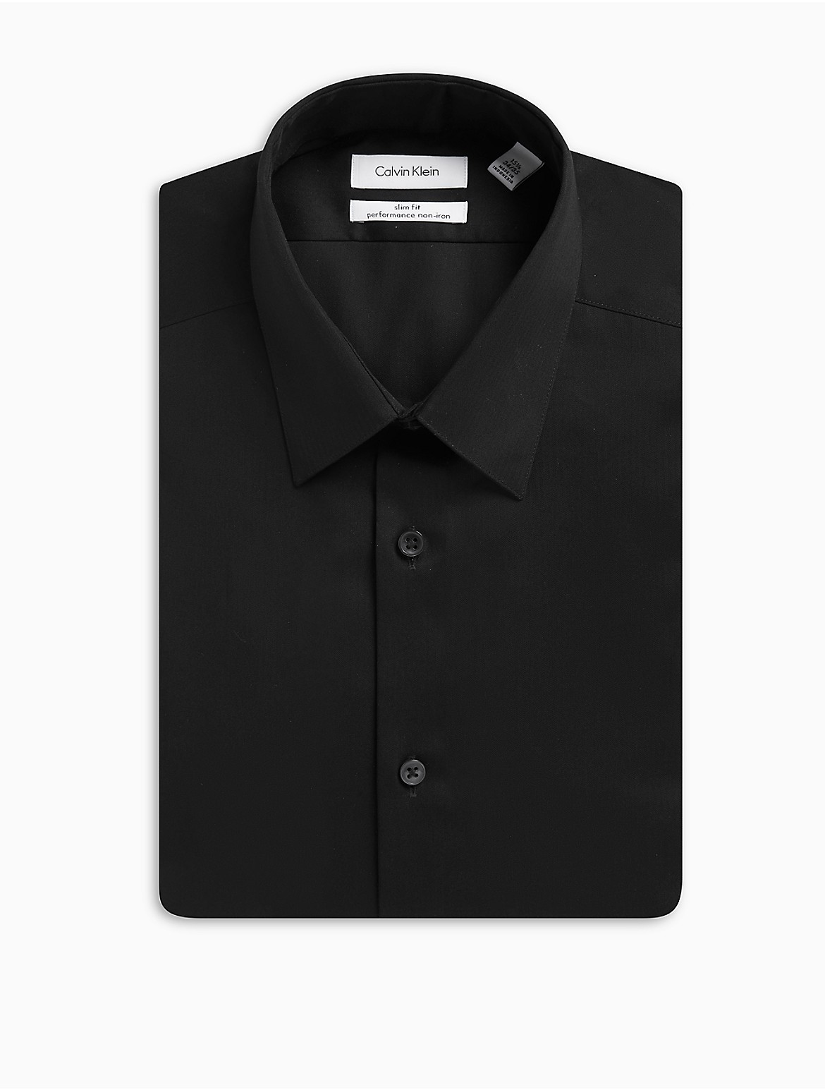 X Fit Ultra Slim Fit Solid Point Collar Dress Shirt Calvin Klein