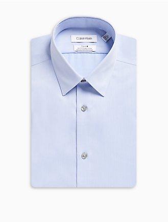eb5d4be85 Slim Fit Herringbone Point Collar Performance Non-Iron Dress Shirt