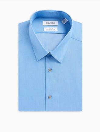 d99bd7892cb Slim Fit Herringbone Point Collar Performance Non-Iron Dress Shirt