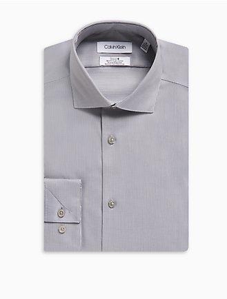 16c9075b00ba Slim Fit Herringbone Spread Collar Performance Non-Iron Dress Shirt