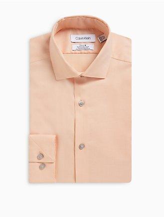5135f092a1f1 Slim Fit Herringbone Spread Collar Performance Non-Iron Dress Shirt
