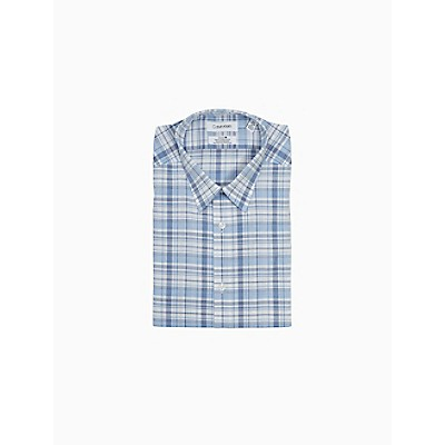 Slim Fit Plaid Performance Non-Iron Dress Shirt