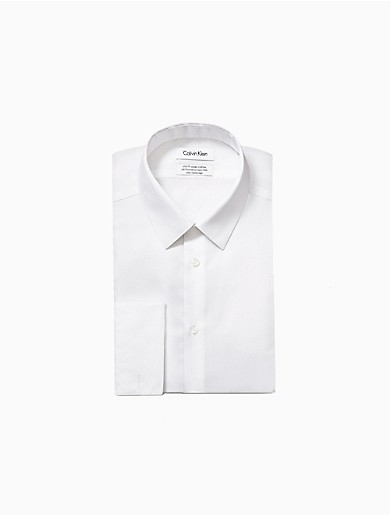 Image of Slim Fit Bedford French Cuff Performance Non-Iron Dress Shirt