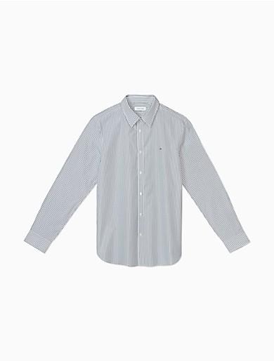 Image of Slim Fit Light Blue Micro Herringbone Dress Shirt