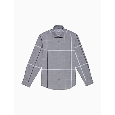Extreme Slim Fit Gingham Stripe Temperature Regulation Dress Shirt