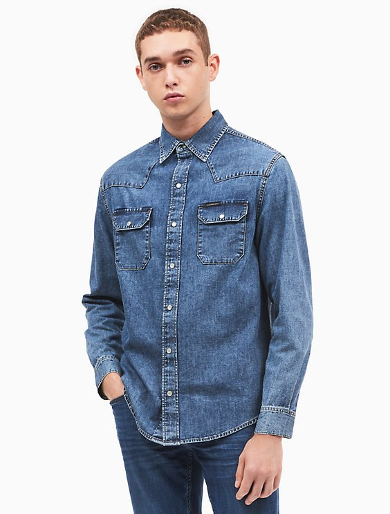 Buy Cheap 2018 Hot Sale For Sale denim shirt - Green Calvin Klein Jeans Manchester Great Sale For Sale Sale Excellent Clearance Shop 9lMNjayasq