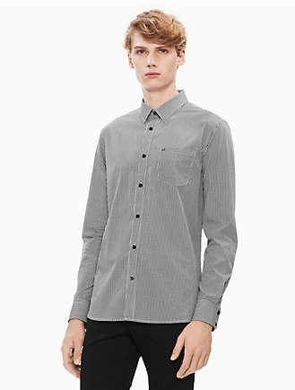 75a2f2a5c1de New Essentials Slim Fit Gingham Button Down Shirt