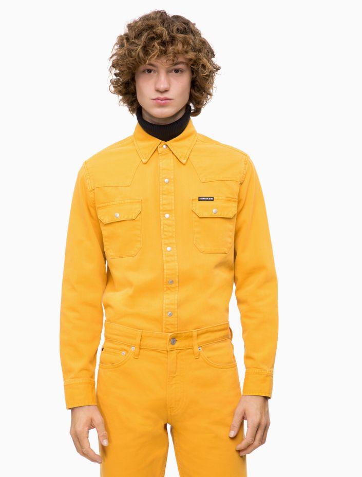 Slim Fit Archive Western Shirt by Calvin Klein