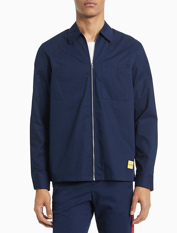 ccbad2839 Classic Fit Cotton Twill Shirt Jacket | Calvin Klein