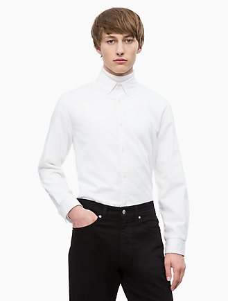 Slim Fit Logo Patch Oxford Shirt