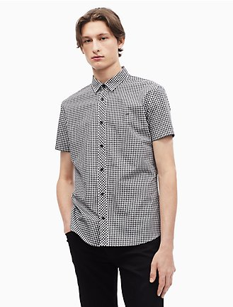 2148409b83dc Gingham Button Down Short Sleeve Shirt
