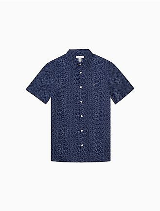 cf4f5a269b27 Classic Fit Spot Print Short Sleeve Shirt