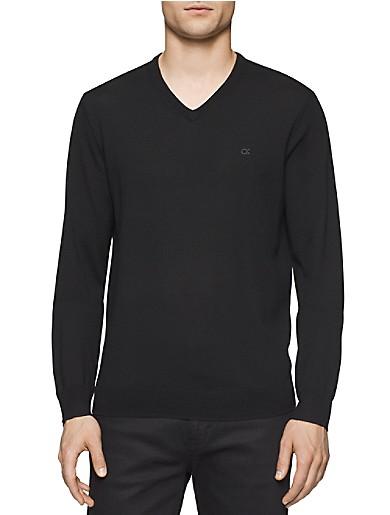 Image of Merino Wool V-Neck Sweater