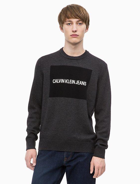 53cd862b1e Final Sale logo block sweater