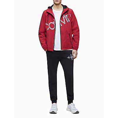 Diagonal Logo Zip Hooded Jacket