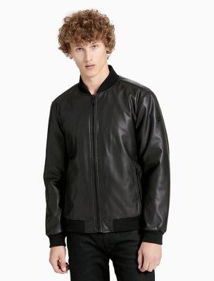 Calvin klein leather coat