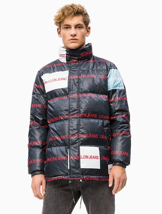 568c0abb225 Final Sale multi logo down puffer jacket