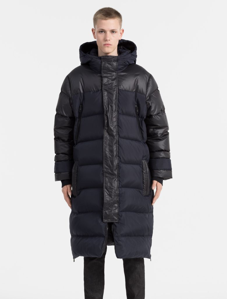 calvin klein mens oversized hooded down parka | eBay