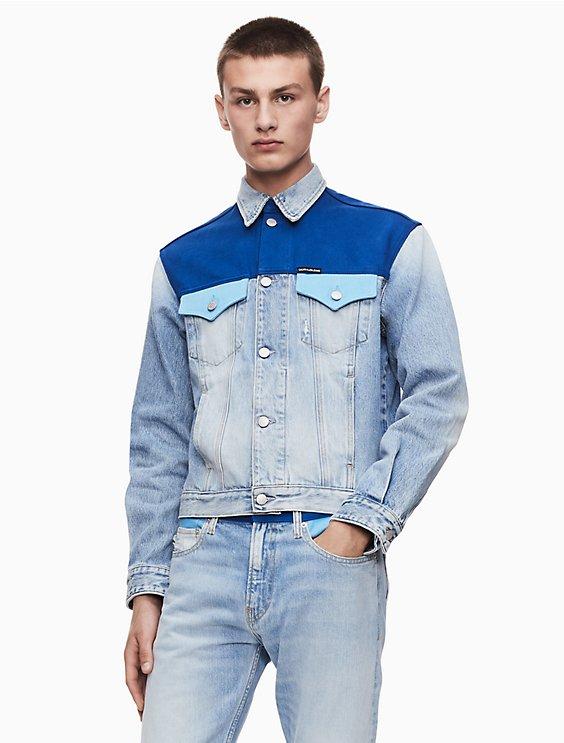 d602ff58 foundation western blocked trucker jacket | Calvin Klein