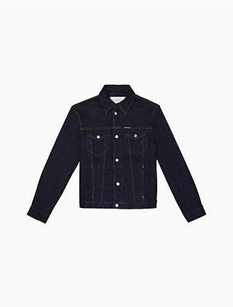 c4cc6ab5e91 Dark Wash Denim Trucker Jacket
