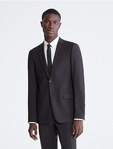 Image of Skinny Fit Black Suit Jacket