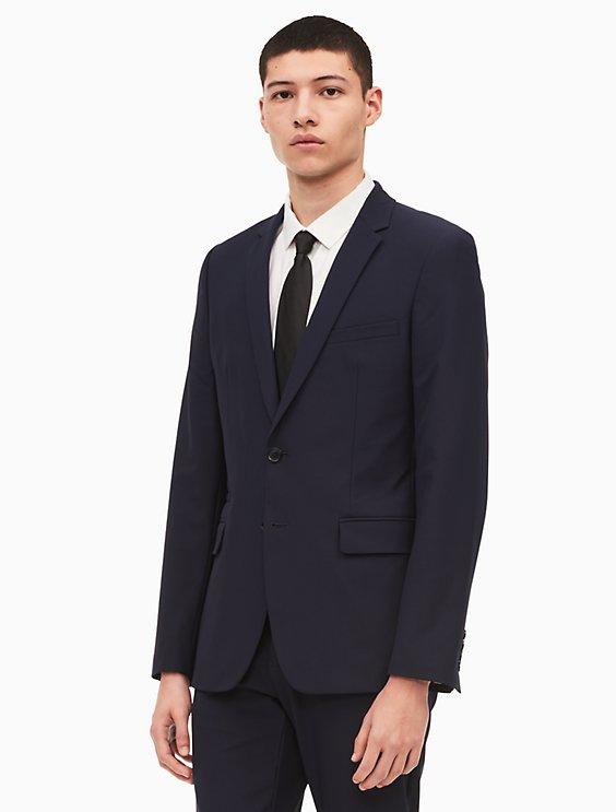 5d6b9e9b4 slim fit infinite tech suit jacket | Calvin Klein