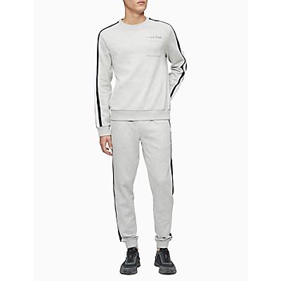 Athletic Stripe Pocket Crewneck Sweatshirt