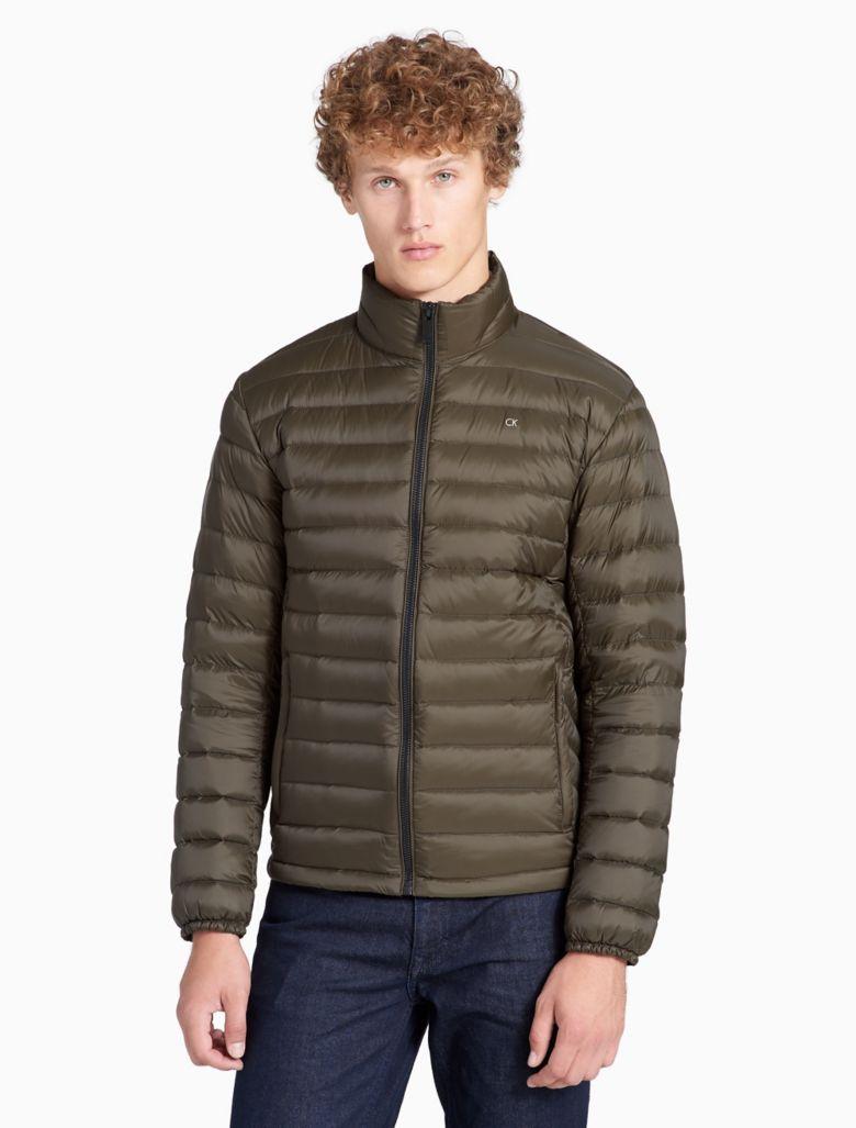 Calvin Klein Mens Lightweight Packable Down Jacket S Camouflage | eBay