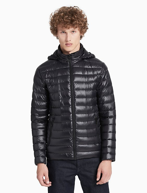 ded2ef8b85f8 packable down hooded puffer jacket | Calvin Klein