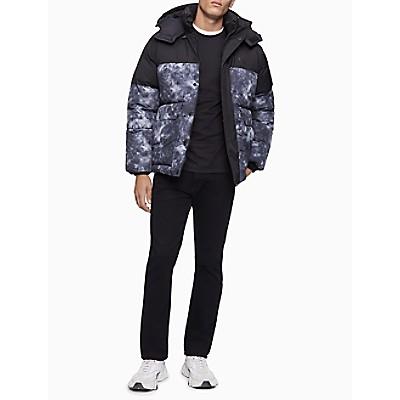 Cloud Print Hooded Puffer Jacket