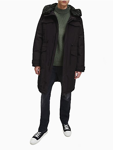 Image of Sherpa Lined Down Parka Coat