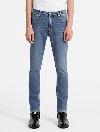 sculpted vintage wash slim jeans