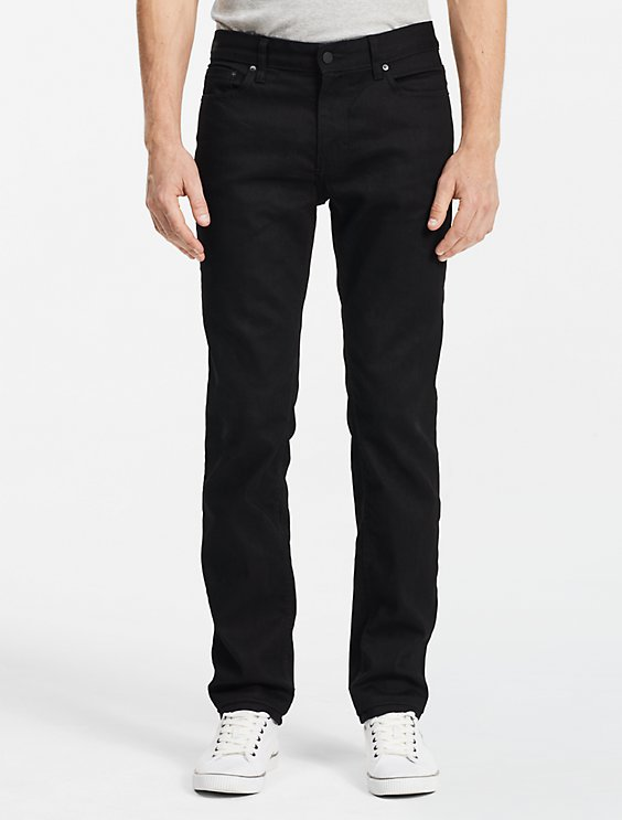 Clearance slim straight black jeans 198af06e98