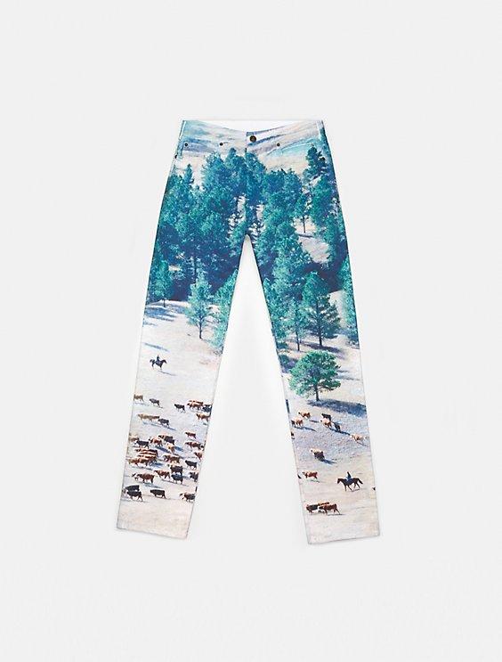 23c3aa92d67 Shoptagr   Landscape Cows Straight Leg Jeans by Calvin Klein