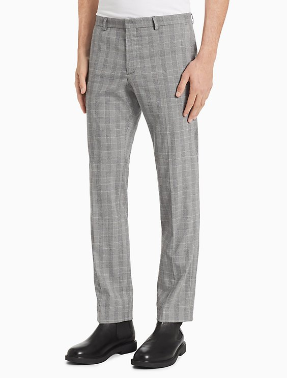 a94f441f2b5 Price as marked Slim Fit Glen Plaid Nylon Pants
