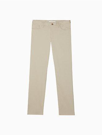 0b1a102374c Slim Fit 5-Pocket Sateen Stretch Pants