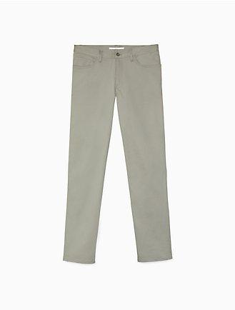 5db32a66ca Slim Fit 5-Pocket Sateen Stretch Pants