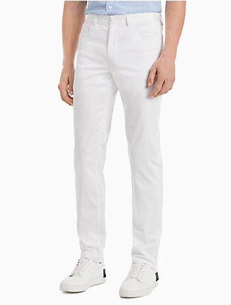 f52fc68a8e New Essentials Slim Fit 5-Pocket Stretch Sateen Pants