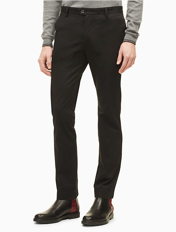 a2321af414 new essentials slim fit solid stretch chino pants